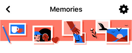 Illustration from Facebook illustrating memories in photographic form