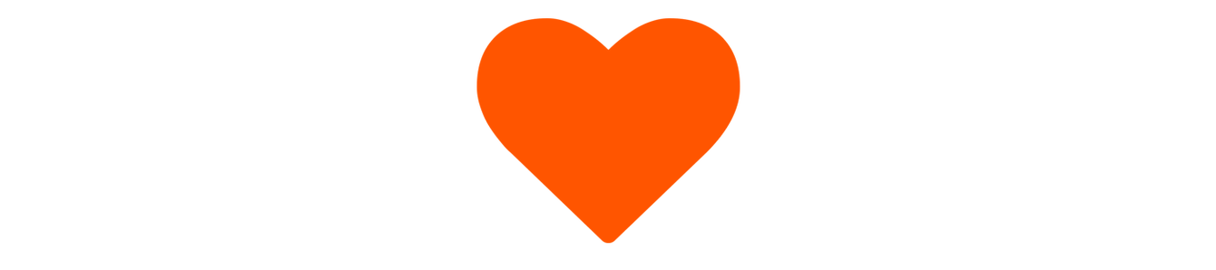 An orange heart