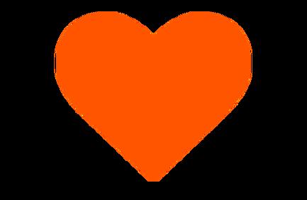 An orange heart