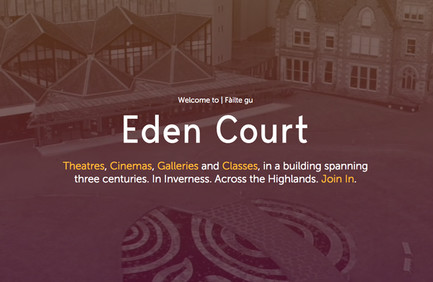 Eden Court's homepage