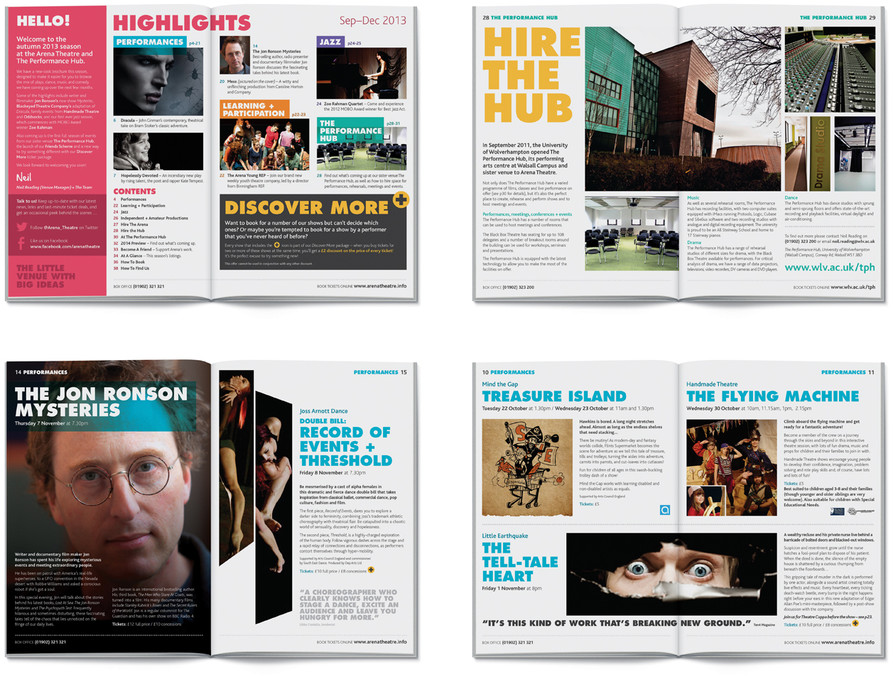 Arena Theatre brochure spreads