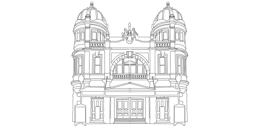 Buxton Opera House keyline illustration