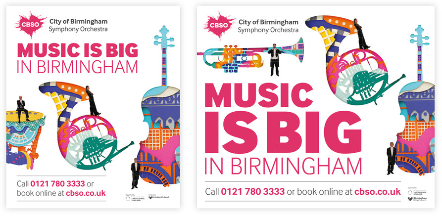 Train and planter teaser ads for the CBSO's 2017-18 season
