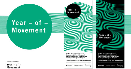Year of Movement visual identity – logo, colour and banner designs