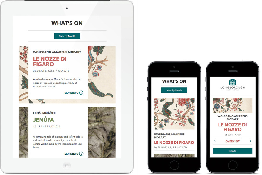 Longborough Festival Opera What's On and Le nozze di Figaro on mobile/ipad