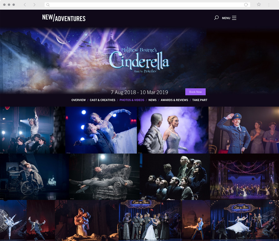 Desktop view of New Adventures' Cinderella image gallery