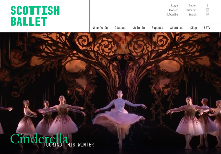 Scottish Ballet website homepage