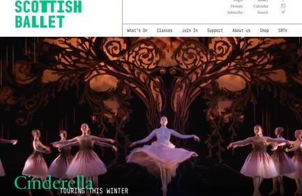 Scottish Ballet website homepage