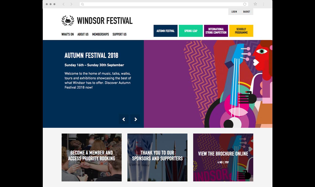 Windsor Festival website homepage